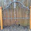 Iron and wood queen size headboard.   50.00.
