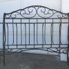 Queen size iron sleigh bed, complete with iron side rails and supports.   145.00.