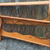 Queen size bed, complete with iron side rails and supports.   99.00.