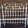 Full size antique iron bed with original rails.  299.00.