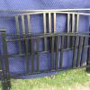Full size iron bed, complete with iron side rails.   60.00.