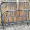 Full size antique iron bed with original rails.   99.00.