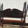 Full size Duncan Phyfe style bed, complete with iron side rails.   60.00.