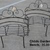 Childs garden benches.  Priced 38.00.